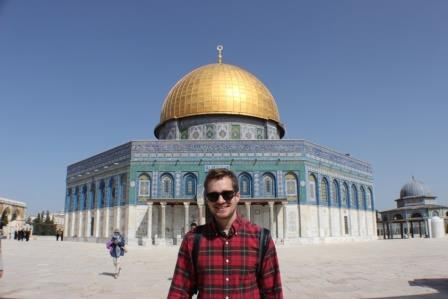 Austin in front of the Dome of the Rock