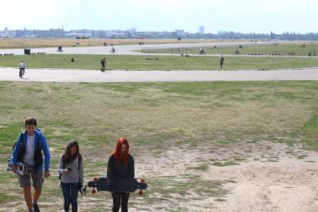 Former Tempelhof airport; now a large park