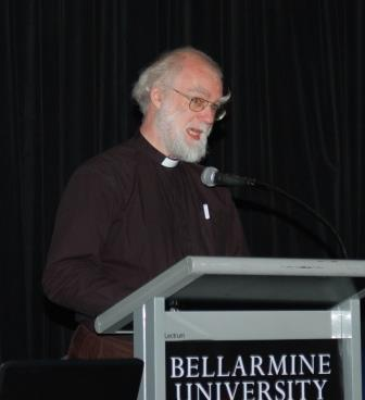 Rowan Williams addresses the conference