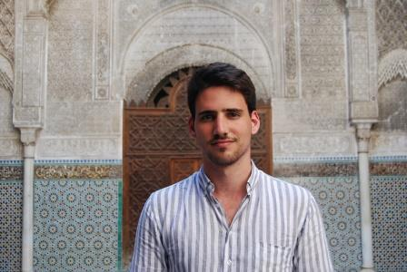 Rodrigo at Al-Attarine Madrasa, Fes, Morocco