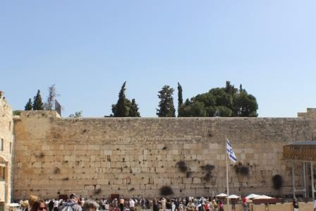 The Western Wall, only a few minutes' walk from the Dome on the Rock